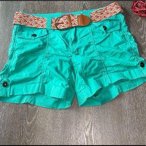 Bongo Women's Jean Shorts Green Junior's Size 9